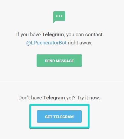 Обратите внимание: если по какой либо причине перейти по ссылке не удалось, вы можете самостоятельно добавить бота внутри Telegram.