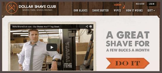 Вирусное видео на главной странице Dollar Shave Club стало залогом маркетингового успеха