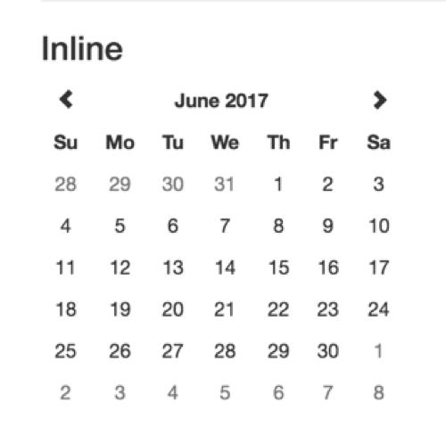 У Bootstrap с выбором месяца все предельно ясно.