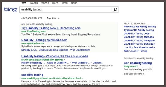 Аналогичное объявление в поисковой выдаче Bing.