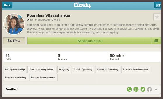 Форма заказа телефонной консультации на платформе Clarity