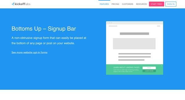 Bottom Signup Bar