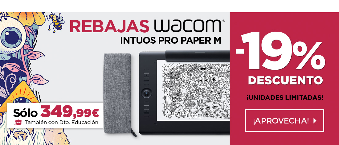 Wacom Intuos Pro Paper M south Tableta Gráfica