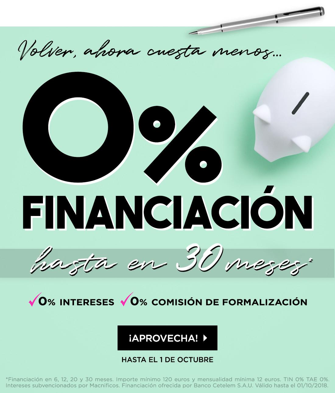 Financiación cero
