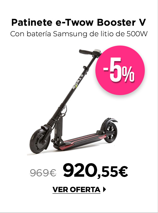 e-Twow Booster V Samsung 10.5 Patinete Eléctrico Negro