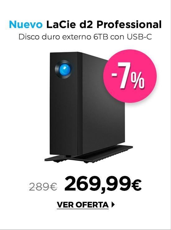 LaCie d2 Professional disco externo sobremesa 6TB USB-C