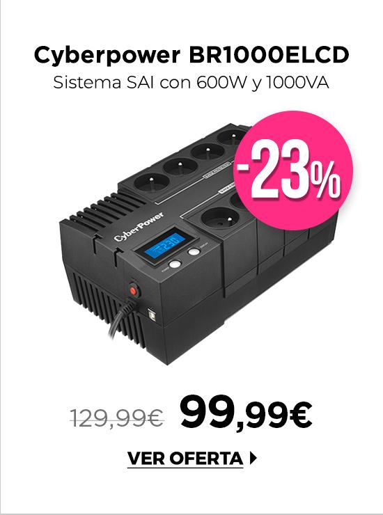 Cyberpower BR1000ELCD SAI 1000VA 600W 8 tomas schuko