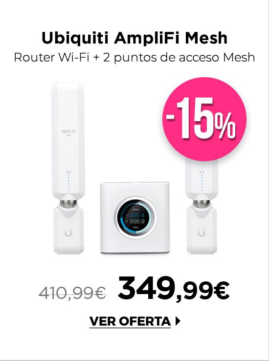 Ubiquiti AmpliFi Mesh Wi-Fi Router + 2 Punto de acceso Mesh