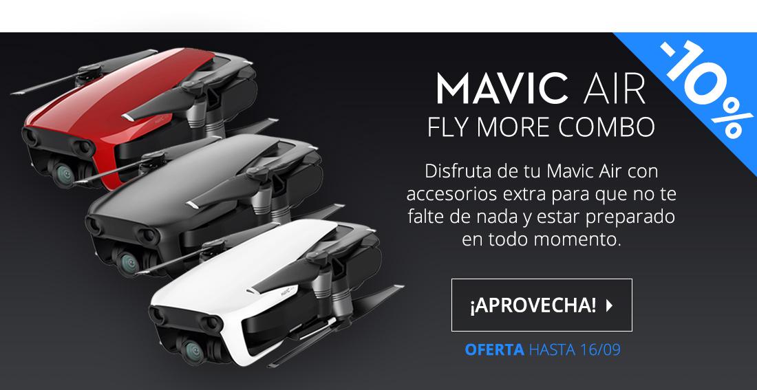 DJI Mavic Air Fly More Combo Drone Wifi Negro