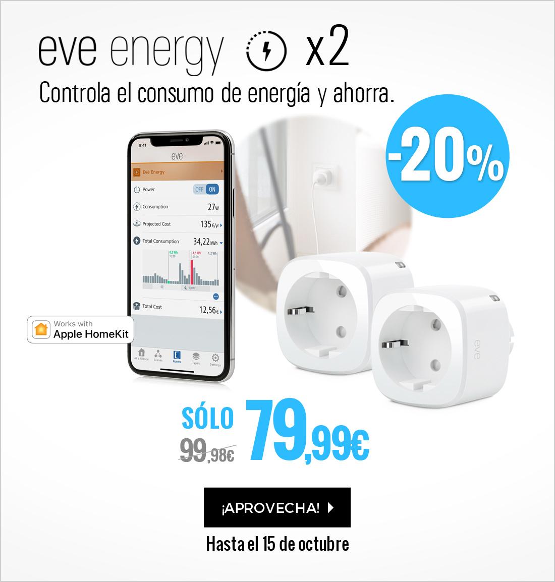 Elgato Eve Energy Enchufe y Sensor pack de 2