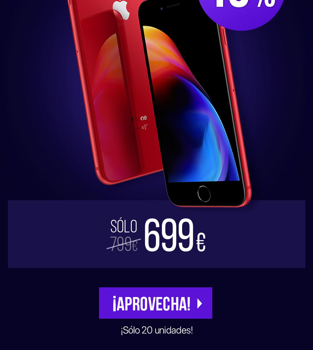 SM Apple iPhone 8 Plus 64GB Red Edicion especial