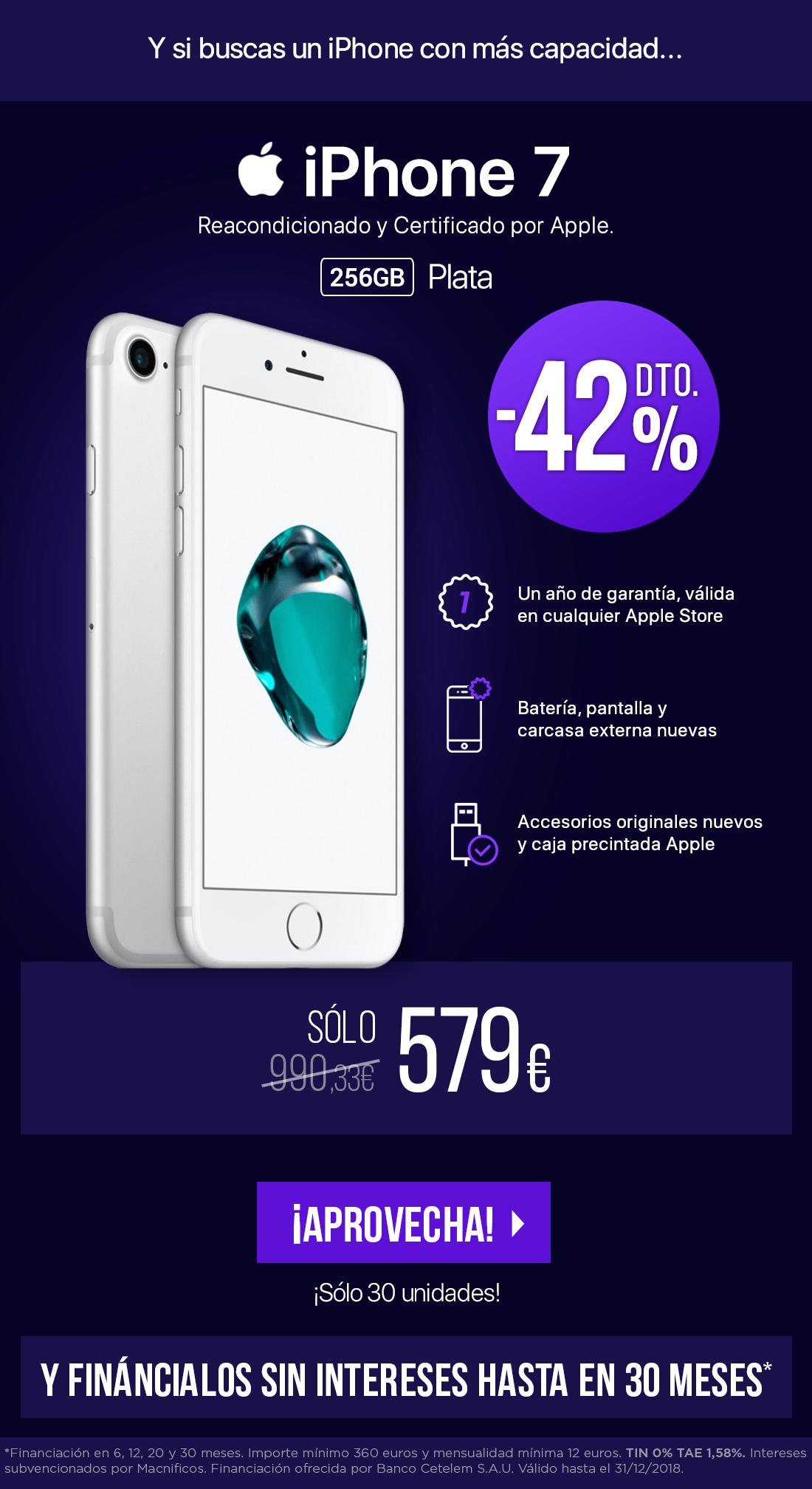 SMCPO Apple iPhone 7 256GB Plata
