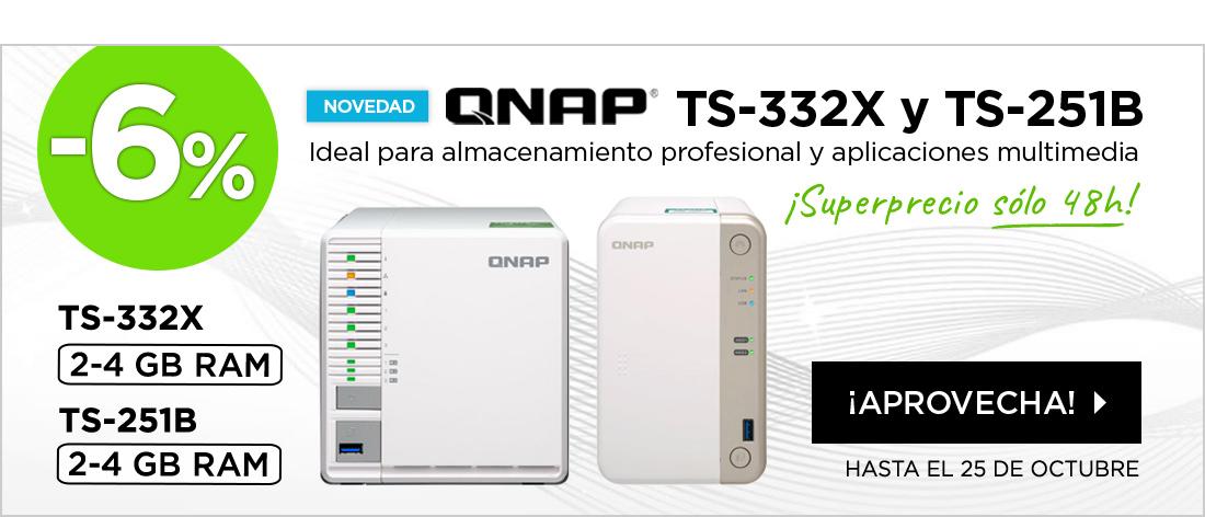 Novedades Qnap dto. extra SÓLO 48 HORAS