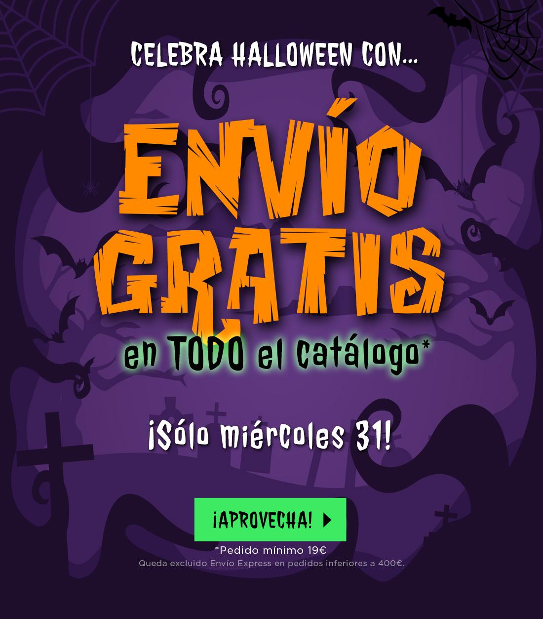 Halloween envío a coste cero 24h