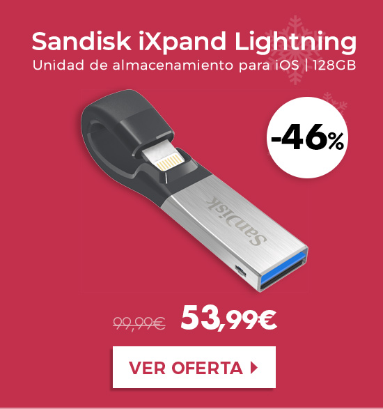 Sandisk iXpand Lightning a USB 3.0 128GB