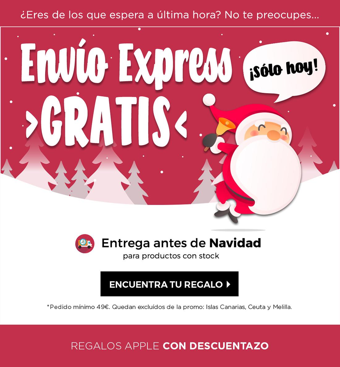 1 día + con Envío Express a coste cero