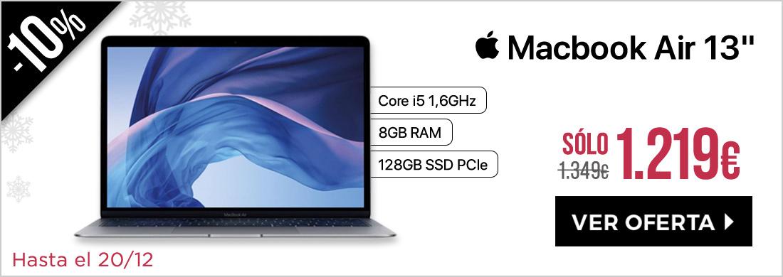 "Apple Macbook Air 13"""" 1,6Ghz 8GB SSD 128GB Gris Espacial (Late 2018)"