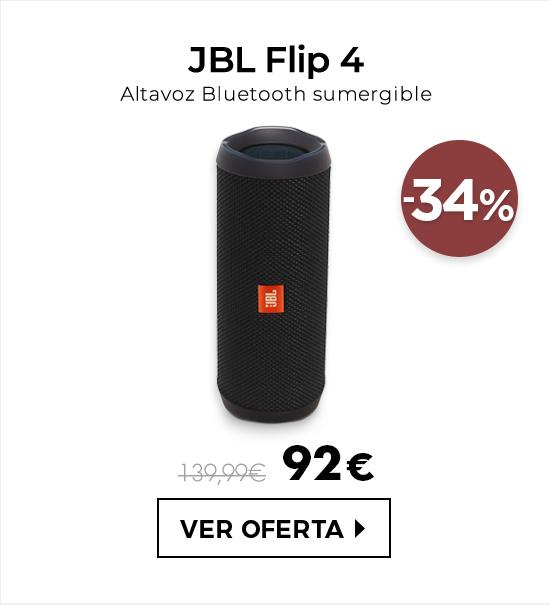 JBL Flip 4 Altavoz Bluetooth Negro