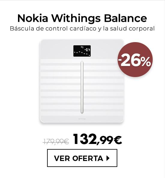 Nokia Balance Body Cardio Báscula Blanco