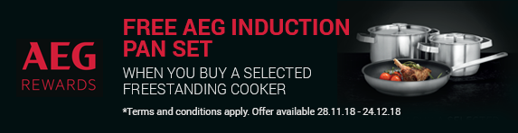 AEG Induction Pans with Cooker 28.11-24.12.2018