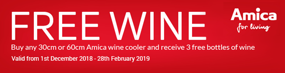 Amica Free Wine Promotion 01.12.2018 - 28.02.2019