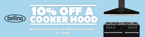 BELLING - 10% off all hoods with a Range Cooker - 03.01.2019