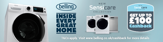 Up to ?100 Cashback on Belling Sensicare Collection - 01.10.2017 - 31.12.2017