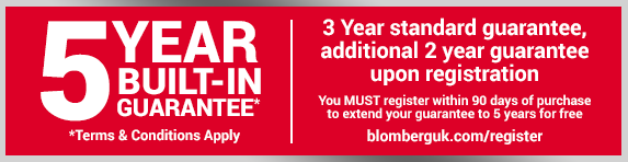 Blomberg 5 Year Warranty - 31.12.2021