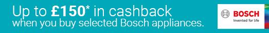 Bosch - Up to £150 Cashback - 31.08.2021