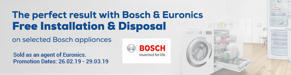 Bosch Free Installation and Disposal 26.02.2019 - 29.03.2019