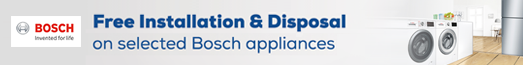 Bosch Free Installation and Disposal Promotion - 18.03.2020 - 31.03.2020