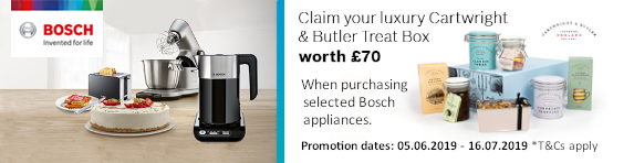 BOSCH Bosch Kitchen Appliances with Tea Time Treats Promotion - 05.06.19 - 16.07.19