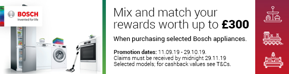 Bosch Mix and Match Cashback Promotion 11.09.2019 - 29.10.2019