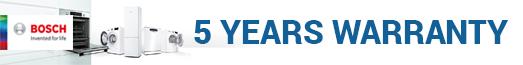 Bosch - 5 year warranty - 31.03.2022
