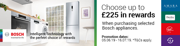 Bosch Choice Added Value Cashback Promotion - 05.06.19 - 16.07.19