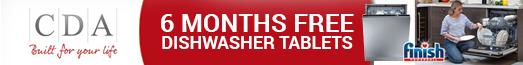 CDA Free Dishwasher Tablets Promotion 01.04.2019 - 30.06.2019