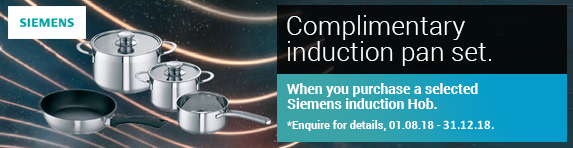 Siemens Free Induction Pan Set - 01.08.2018 - 31.12.2018