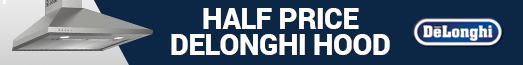 Delonghi Half Price Hood Promotion22.11-31.12.2018
