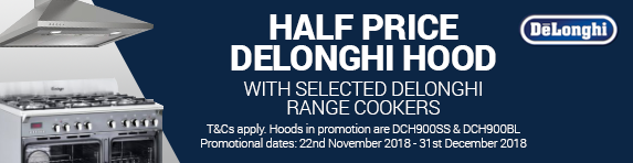 Delonghi Half Price Hood Promotion22.11-31.12.2018