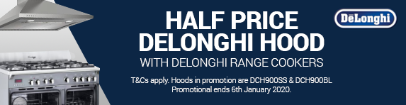 Delonghi - Half Price Hood with Range Cooker - 06.01.2020