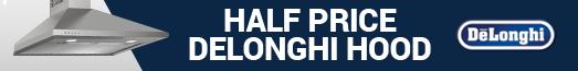 Delonghi Half Price Cooker Hood 24.05.19 - 30.06.19