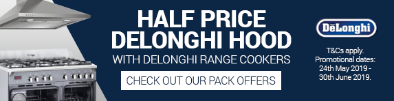Delonghi Half Price Cooker Hood 24.05.19 - 30.06.19