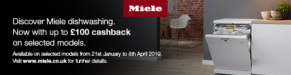 Miele Up to £100 cashback Dishwasher 21.01-08.04.2019