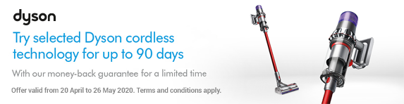 Dyson Cord-Free Technology 90 Day Money Back Guarantee 22.05.2019 - 15.07.2019