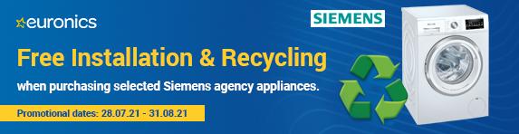 Siemens - Free Installation and Disposal - 31.08.2021
