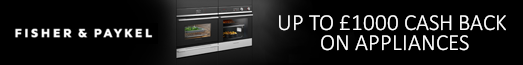 Fisher & Paykel up to £1000 Cashback 29.04.2019 - 10.12.2019
