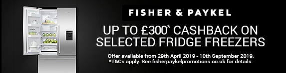 Fisher & Paykel Cool Cashback 29.04.2019 - 10.09.2019