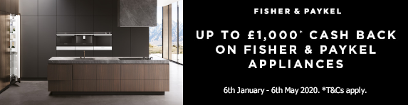 Fisher & Paykel up to ?1000 Cashback 06.01.2020 - 06.05.2020