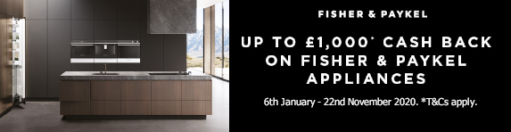 Fisher & Paykel up to ?1000 Cashback 06.01.2020 - 22.11.2020