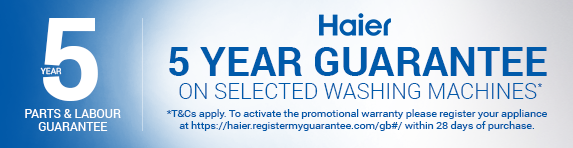 Haier - 5 Year Guarantee